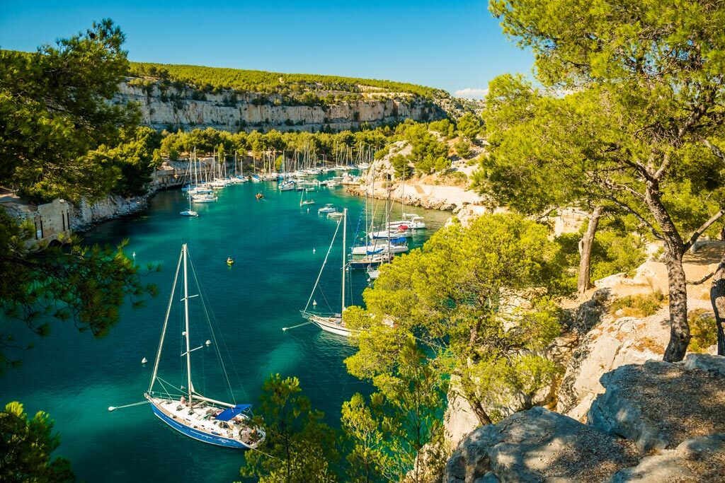 Calanques Marseille Port Miou - France