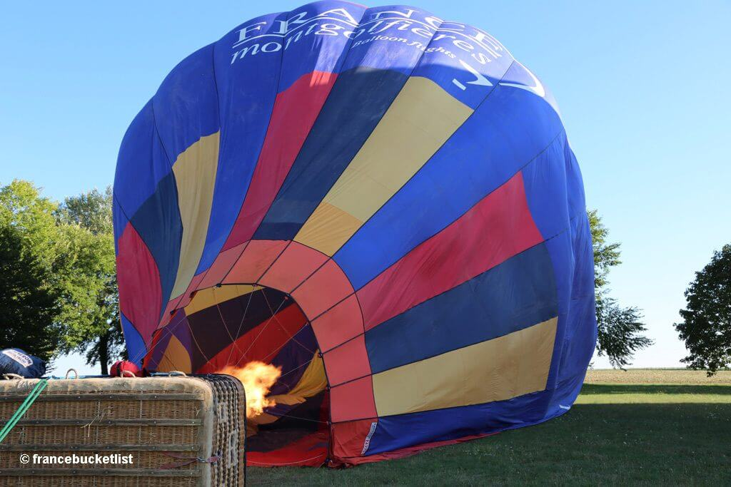 Hot-Air Balloon Ready to Fly