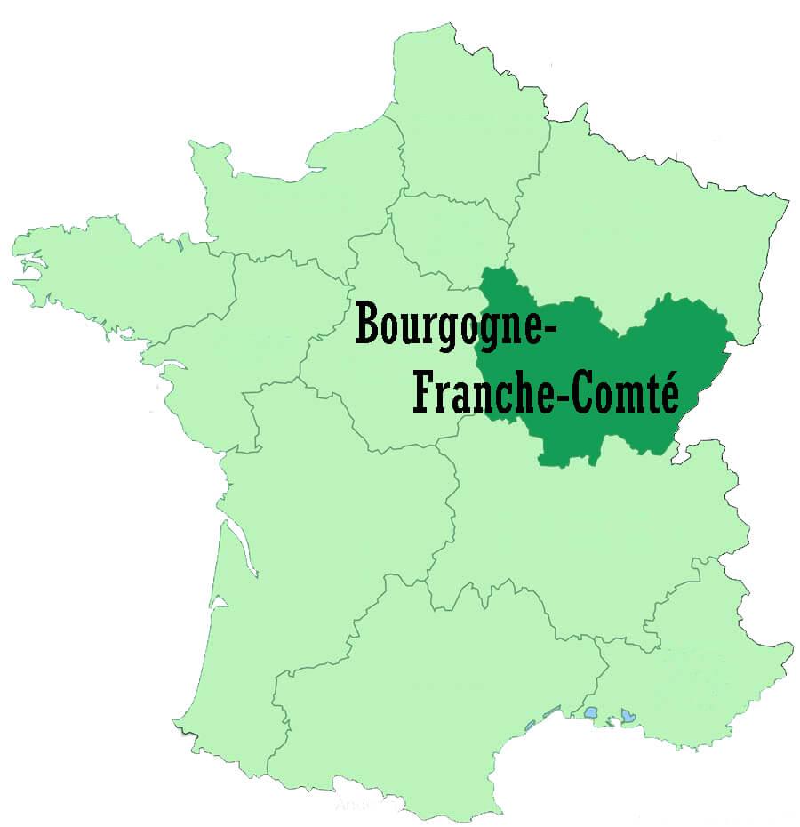 Region of Bourgogne-Franche-Comté - France