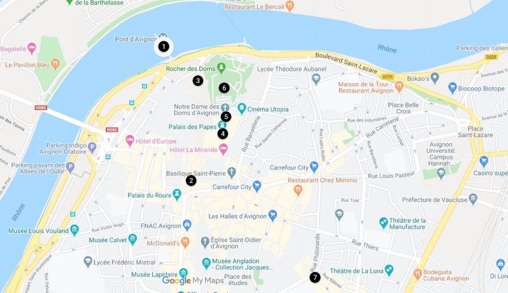 1 Day in Avignon Map