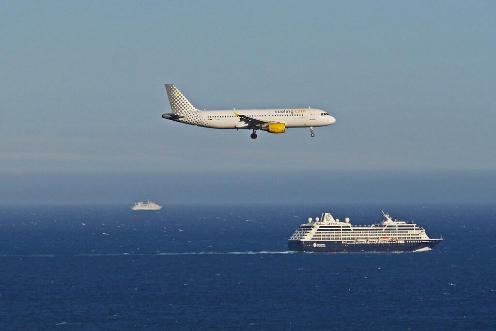 Landing in Nice Airport